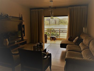 Photo for Apartment Guaruja / Asturias Total front of the house 4 quarts 3 bath / TvCabo Wif / serv.