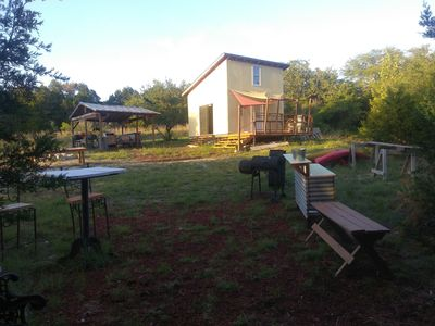 Photo for Off grid Glamping cabin.  45 min from north Austin 5 min to Lake Travis