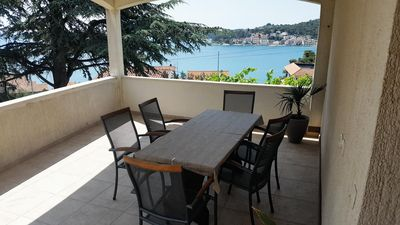 Photo for Three bedroom apartment with terrace and sea view Tisno (Murter)