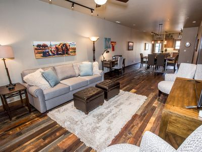 Photo for 2017 Build! 2BR unit in Downtown Whitefish! 35 min to Glacier Nat'l Park!