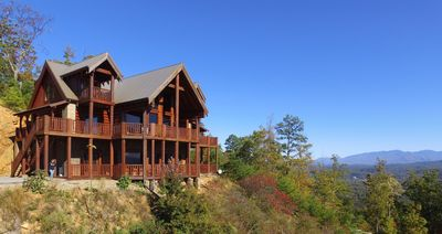 Photo for Majestic Mountaintop Retreat- Breathtaking Views, Luxury Lodge over Pigeon Forge