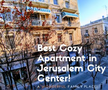Best Cozy Apartment in Jerusalem City Center!