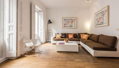 Photo for Be Apartment - Incredible and quiet luxury duplex of 200 m2 with design furniture. 3 bedrooms and 2 bathrooms. Located in the heart of Madrid.