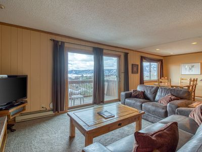 Photo for Ski-in/ski-out condo with fireplace, gorgeous views, and shared hot tub!