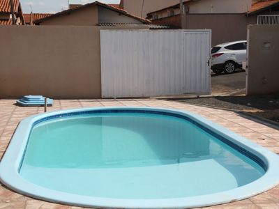 Photo for Recanto Tropical - 2 suites with air - Swimming pool with prainha