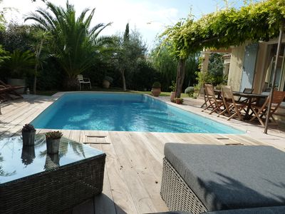 Photo for Magnificent family house for 8 people, heated pool and guaranteed charm