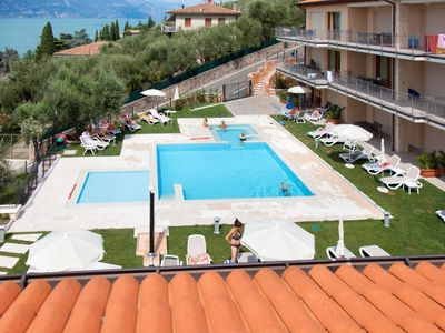 Photo for Torri del Benaco Apartment, Sleeps 6 with Pool, Air Con and Free WiFi