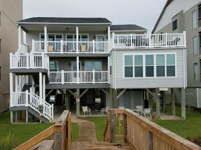 View of the Muth Beach House from the walkover