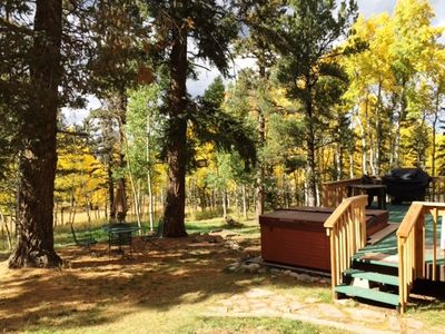Photo for Forested Hideaway, Hottub, WiFi, Directv, Wildlife, Nr Attractions, Gas & Food!