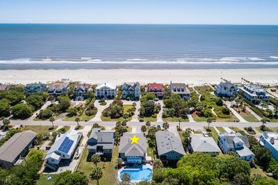 Across the street from beach with large private pool