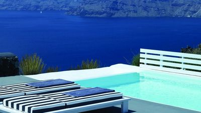 Photo for Villa Mythos Caldera Santorini 2br upto 5guests Private Pool