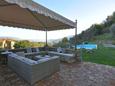 Photo for Villa Sissy is a wonderful villa witk amazing view of the La Spezia gulf, private pool, 4 bedrooms 3