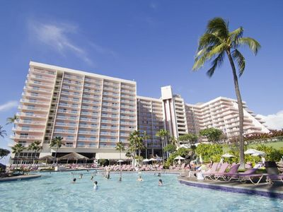 Photo for Ka'anapali Beach Club  Deluxe ocean view ...... just feet from the ocean!