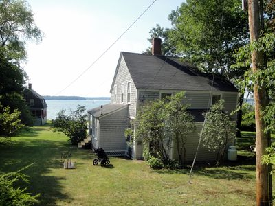 View of house and water from the road (Note: The red house is no longer there.)