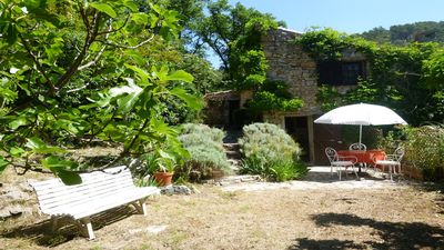 Photo for MILL OF CHARM in Provence overlooking a beautiful river.
