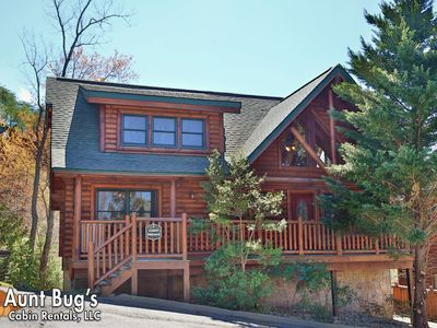 Photo for Beautiful 5 Bedroom Log Cabin Rental In Covered Bridge Resort