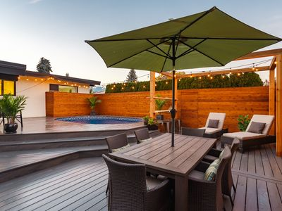 Photo for Amazing outdoor living space with huge deck and a pool. Pets and kids welcome!