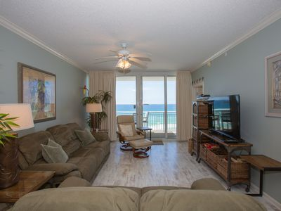 Photo for Beachfront Condo in The Pearl of Navarre. Private Balcony with Stunning Views. Steps from the Sand!