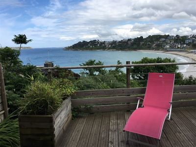 Photo for BEAUTIFUL SEA VIEW apartment overlooking PERROS-GUIREC bay