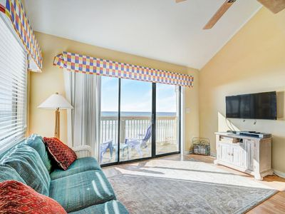 Photo for ☼BeachFront☼The Great Escape B-3BR-30A-Jun 17 to 19 $1433 Total! Beach Service