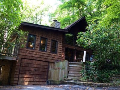 Photo for Rustic Cabin In Asheville Forest-15 Minutes From Downtown AVL, yet worlds away!