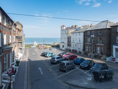 Photo for Stunning central 1 bed apartment, direct sea views, sleeps four