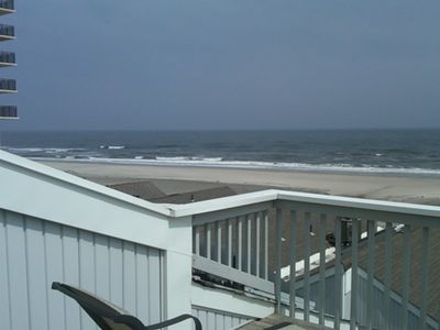 Photo for Oceanfront Three Story Townhouse, Roof Deck! Gas Grill, Wifi! May 5-June 30 Open
