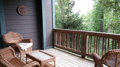 Enjoy the beautiful deck with view of Grandfather Mountain