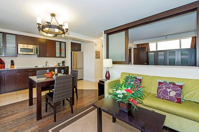 Spacious condo can sleep up to 4 guests!