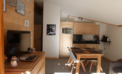 Photo for charming apartment in chalet residence 6 p departure and return skis