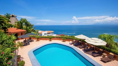 Photo for Sun-Filled Pool Terraces, Path to Beach, Walk to Town, Restaurants, Fully Staffed, Tennis Court