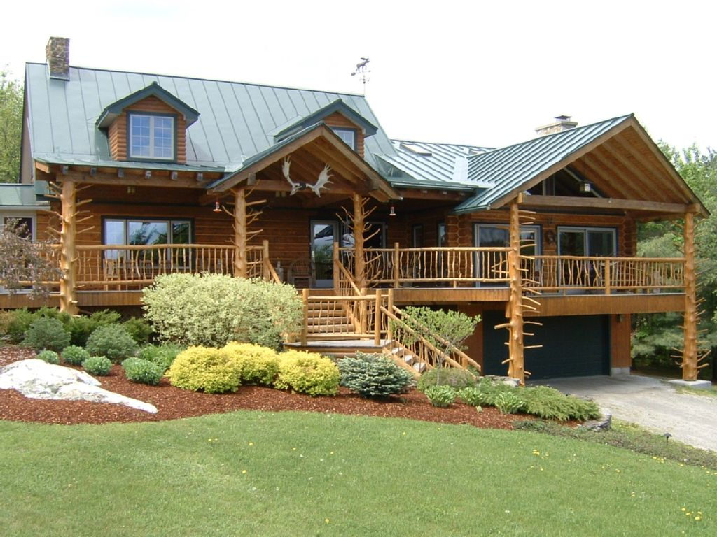 Moose meadow lodge adirondack style log home cabin on 86 for Adirondack style homes