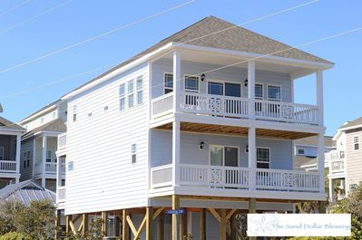 Outside street view. Bright, sunny end-of-row location. Great for ocean views!