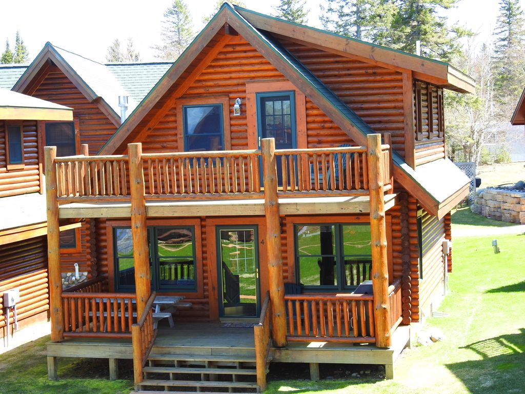mackinaw city charming log cabin on the shores of lake