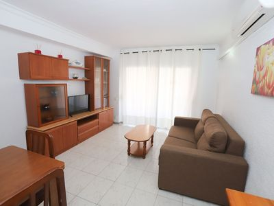 Photo for Central 2 bedroom apartment with capacity for 4/6 people in the heart of La Pineda, 100m f