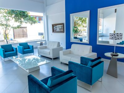 Photo for Cabo Frio Luxury Suite Apartment! Air Conditioning, Swimming Pool, Sauna, Security.