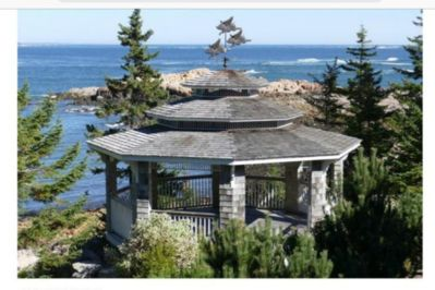 Here is the Gazebo, with breezy and easily accessible views of the open ocean and the working harbor.