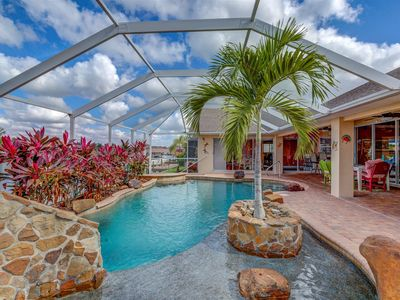 Photo for Villa Sun Splash - Cape Coral 3b/2 1/2ba with home with den, w/electric heated pool/spa, water slide