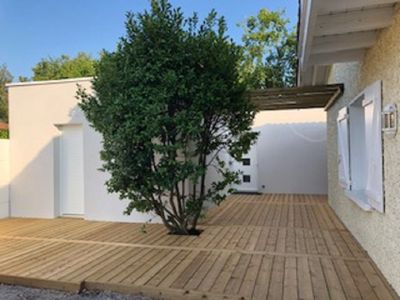 Photo for NEW !! Maisonette full foot with wooden terrace Andernos baths