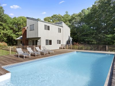 Photo for Hamptons Retreat w/ Pool & Tennis - 90min from NYC