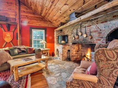 Photo for NEW! Historic Cabin in Little Switzerland w/Fire Pit-Walk to village and shops!