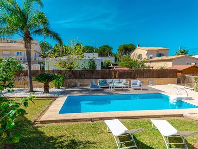 Photo for Beautiful private villa for 8 guests with A/C, private pool, WIFI, TV, balcony and parking
