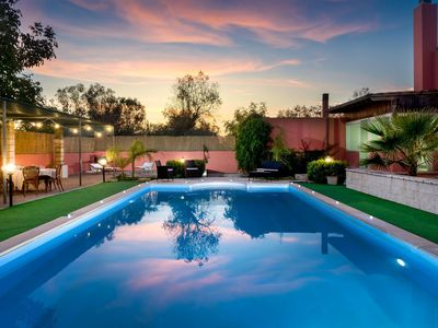 Photo for Spacious Villa Antares apartment in Casarano with WiFi, air conditioning, private parking, private …