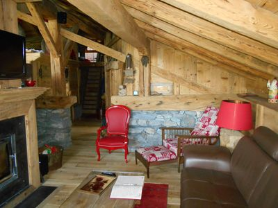Photo for Mountain Dream, warm cocoon of old wood welcoming and cozy.