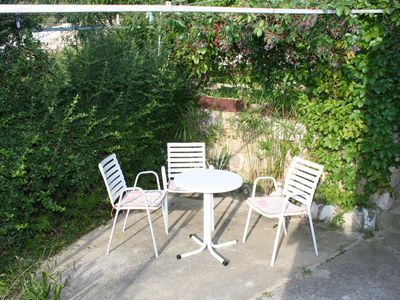 Photo for One bedroom apartment with terrace and sea view Nemira, Omiš (A-2828-d)