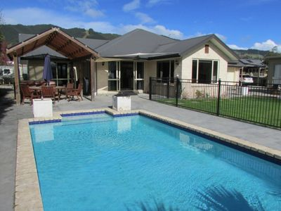 Photo for Relax by the pool in sunny Richmond, Nelson