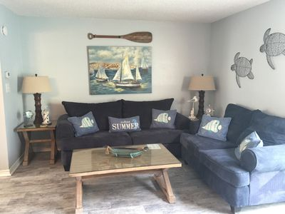 Photo for 3 bd/2.5ba condo/pool/100 yds from beach/beach umbrella & chair service included