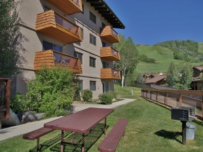 Photo for Easy Walk to Base Area Activities, Large Outdoor Hot Tub