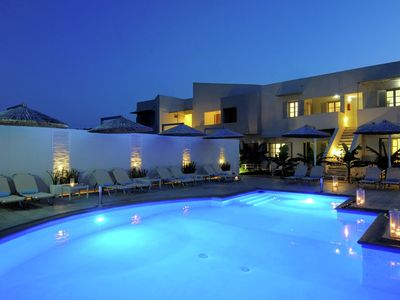 Photo for Newly built appartments, in centre Elounda, communual large pool, NE coast