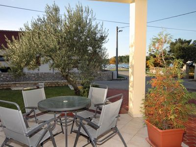 Photo for One bedroom apartment with terrace and sea view Nin, Zadar (A-5666-c)
